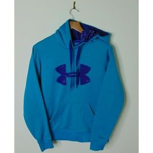 Under Armour S Hoodie Storm Blue Athletic Pullover
